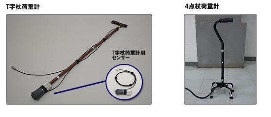 ローカス3D T字杖荷重計 4点杖荷重計