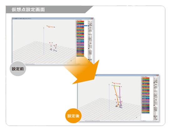 仮想マーカー 設定 解析 画像