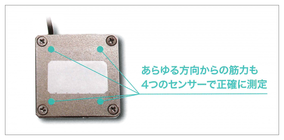 筋力計 薄型センサー 4点支持方式