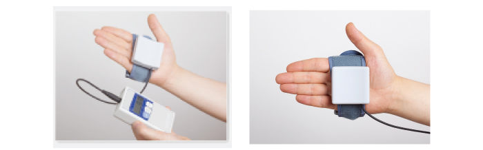 セパレートタイプで、手の自由度が高く、使いやすい